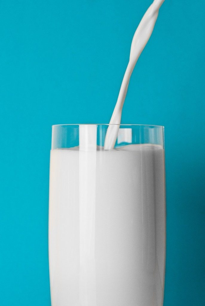 glass, milk, drink
